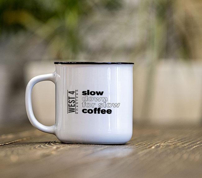 Чашка керамическая «Slow Down For Slow Coffee»